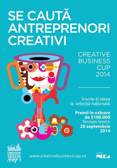 Se caută antreprenori creativi. Înscrieri la competiția internațională Creative Business Cup